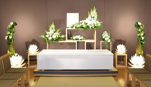 はるかの家族葬「和(なごみ)プラン」リビング祭壇
