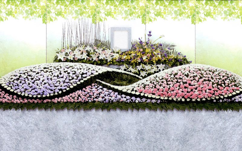 生花祭壇/幅4.8m(3段)