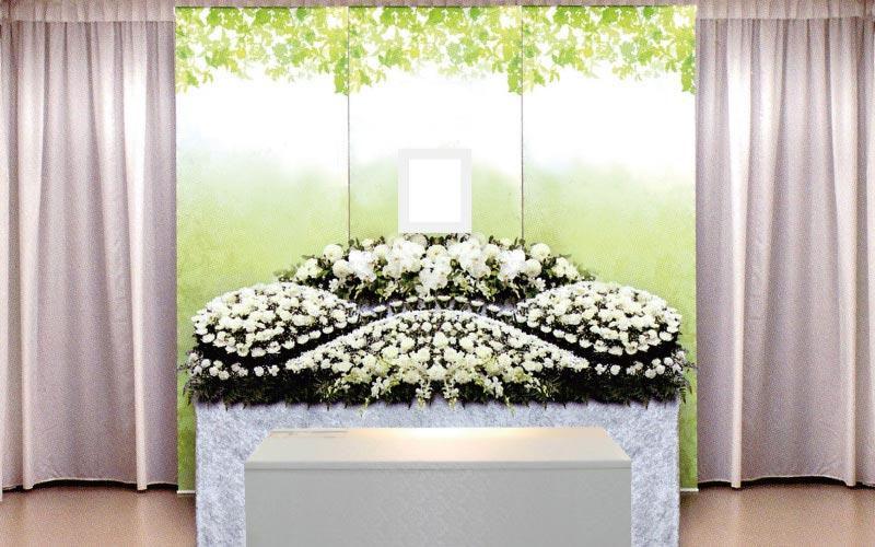 生花祭壇/幅2.4m(2段)